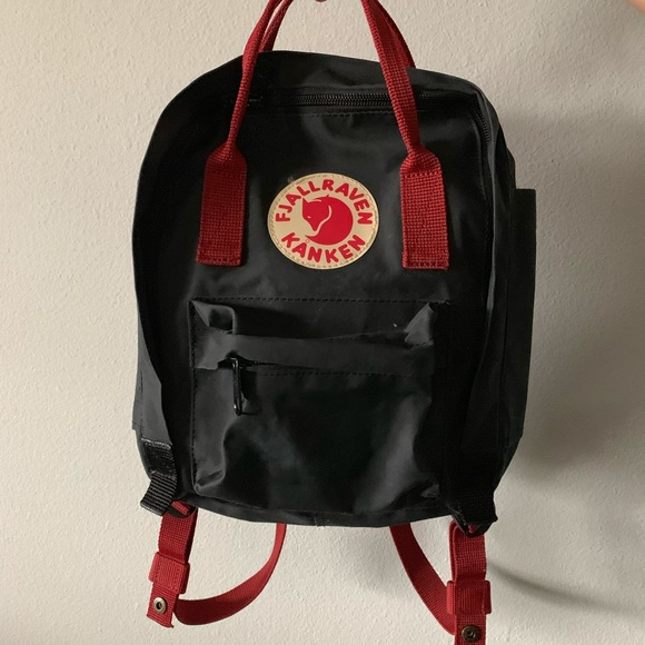 bad3c857f Fjallraven Bags | Fjllraven Kanken Mini Backpack Black Red | Poshmark
